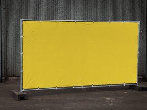 Bouwhek dicht geel
