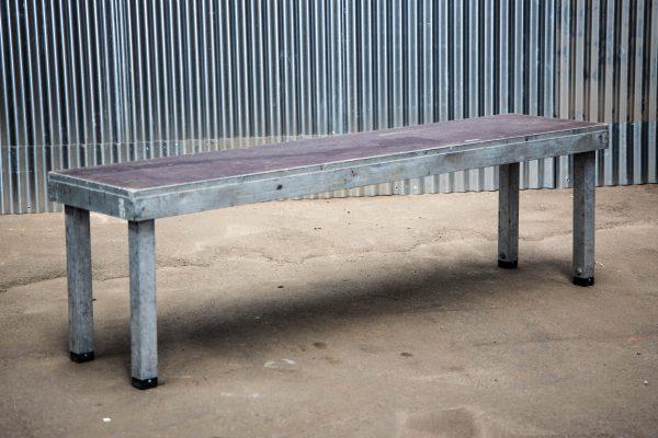 Podiumdelen: podiumelement 50x200cm met verstelbare poten van 60-100cm hoog