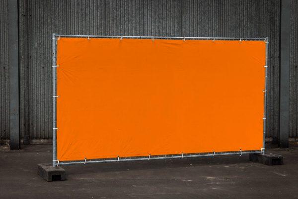 Bouwhek oranje